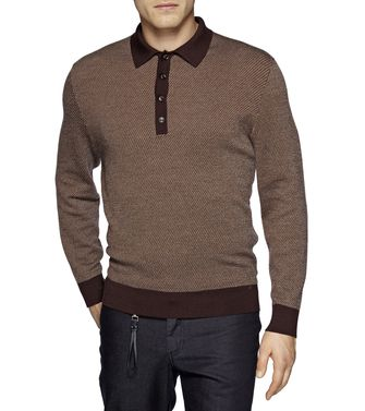 ERMENEGILDO ZEGNA: Polo-neck Blue - 39377048IG