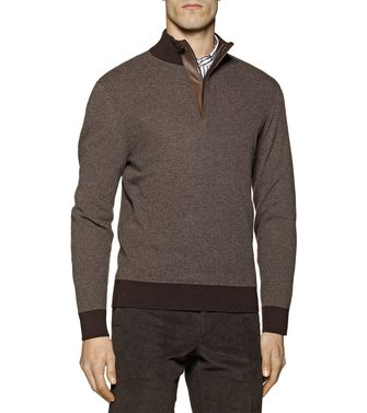 ERMENEGILDO ZEGNA: High Neck Brown - 39377049CR