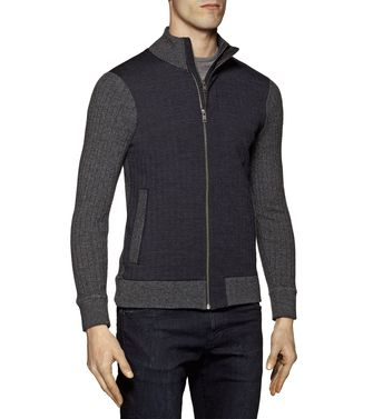 ZZEGNA: Cardigan Anthracite - 39377058NH