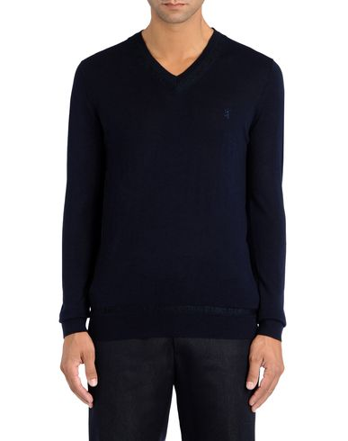 Mouliné Effect V Neck Sweater