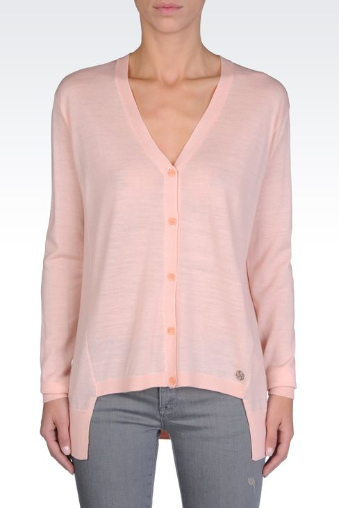 ASYMMETRICAL CARDIGAN: Cardigans Women by Armani - 2