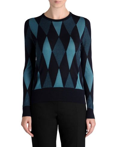 Textured Argyle Knit Top
