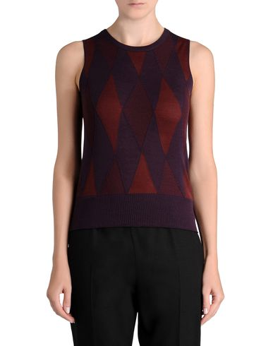 Textured Argyle Sleeveless Knit Top