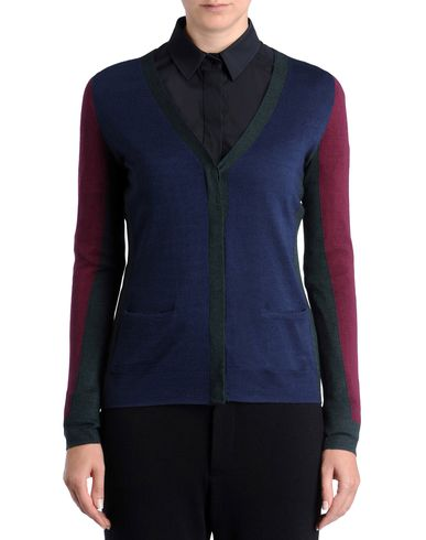 Fine Cashmere and silk <br> colour block cardigan