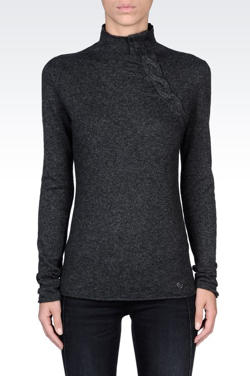 Knitwear: High neck sweaters Women by Armani - 2