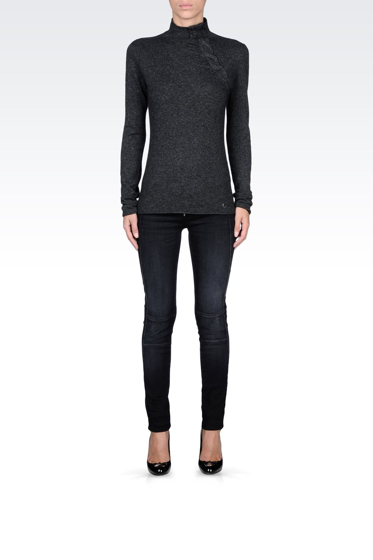 Knitwear: High neck sweaters Women by Armani - 0