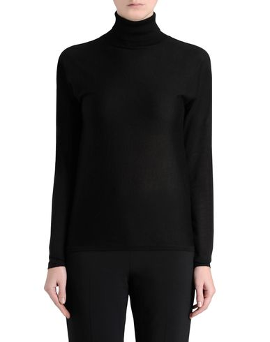 Fine Knit Two Tone Roll Neck