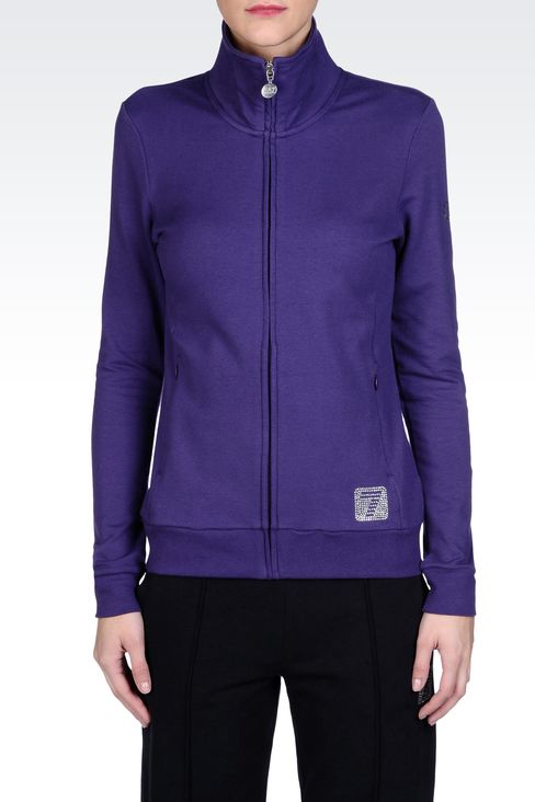 SWEATSHIRTS: Zip sweatshirts Women by Armani - 2