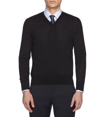 ERMENEGILDO ZEGNA: V-neck Steel grey - 39402787LI