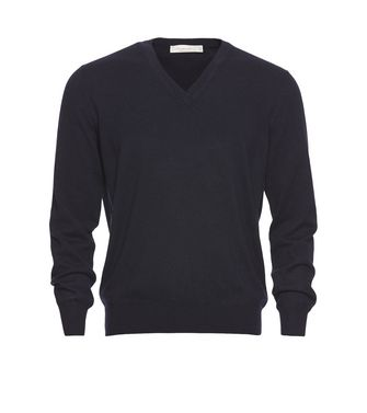 ERMENEGILDO ZEGNA: Cashmere sweater Steel grey - 39402816BT
