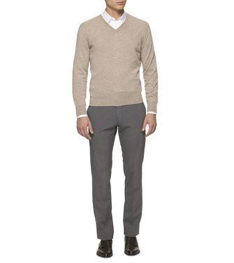 ERMENEGILDO ZEGNA: Cashmere Sweater Slate blue - 39402819II