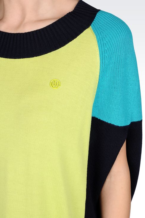 OVERSIZED COLOR BLOCK SWEATER: Crewneck sweaters Women by Armani - 4