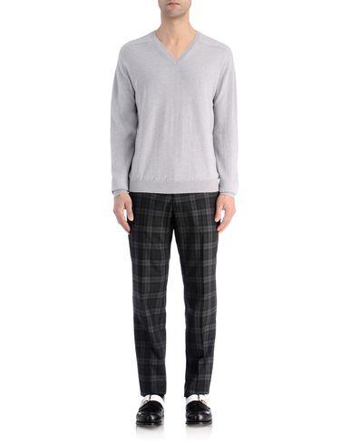 Contrast Neckline Cashmere Sweater