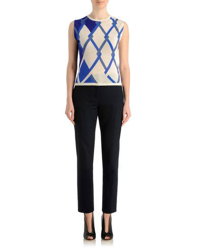 Linked argyle cashmere sleeveless sweater
