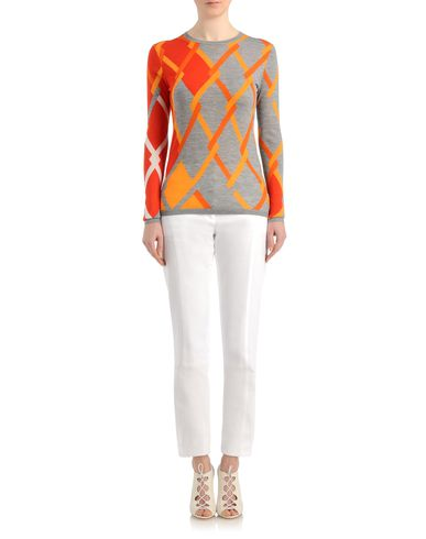 Linked argyle cashmere sweater