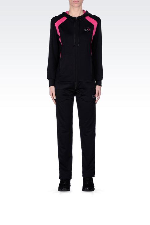 HOODED SWEATSHIRT IN TECHNICAL FABRIC: Hooded sweatshirts Women by Armani - 1