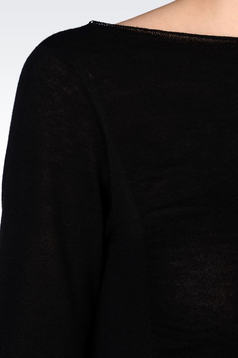 JUMPER IN WOOL AND VISCOSE: Crewneck sweaters Women by Armani - 5