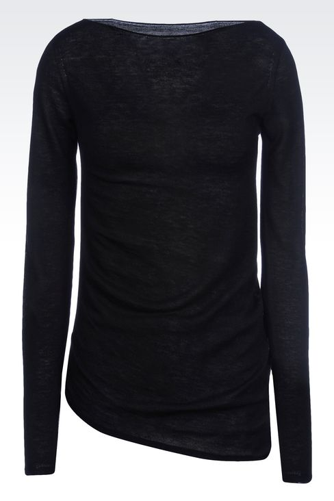 JUMPER IN WOOL AND VISCOSE: Crewneck sweaters Women by Armani - 1