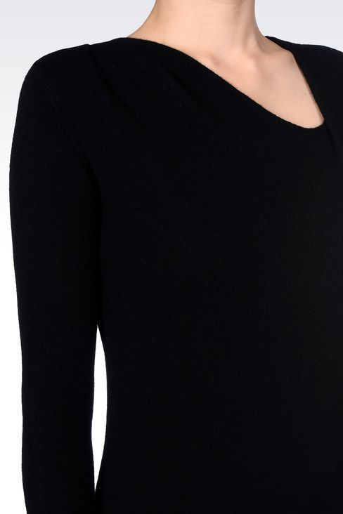 CASHMERE JUMPER: V  neck sweaters Women by Armani - 5