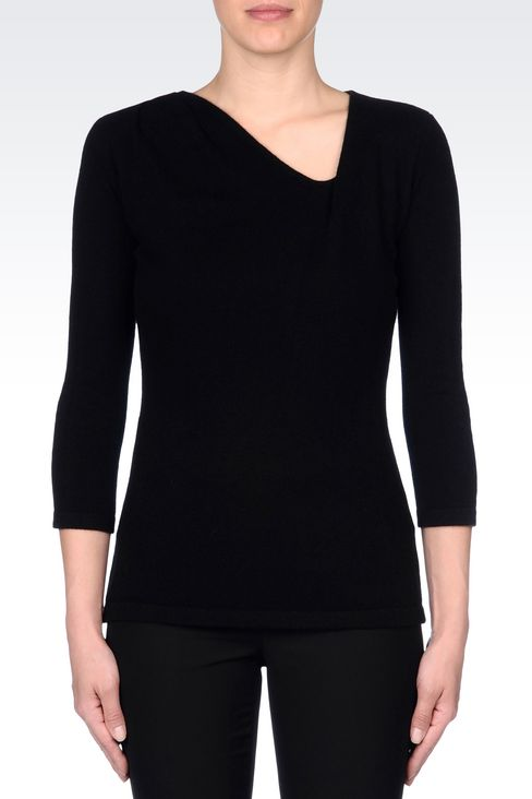 CASHMERE JUMPER: V  neck sweaters Women by Armani - 3