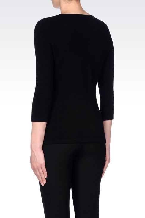 CASHMERE JUMPER: V  neck sweaters Women by Armani - 4