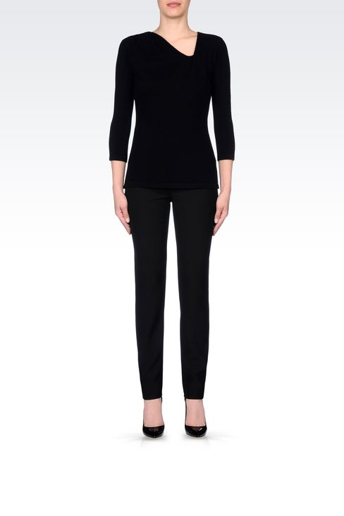 CASHMERE JUMPER: V  neck sweaters Women by Armani - 2