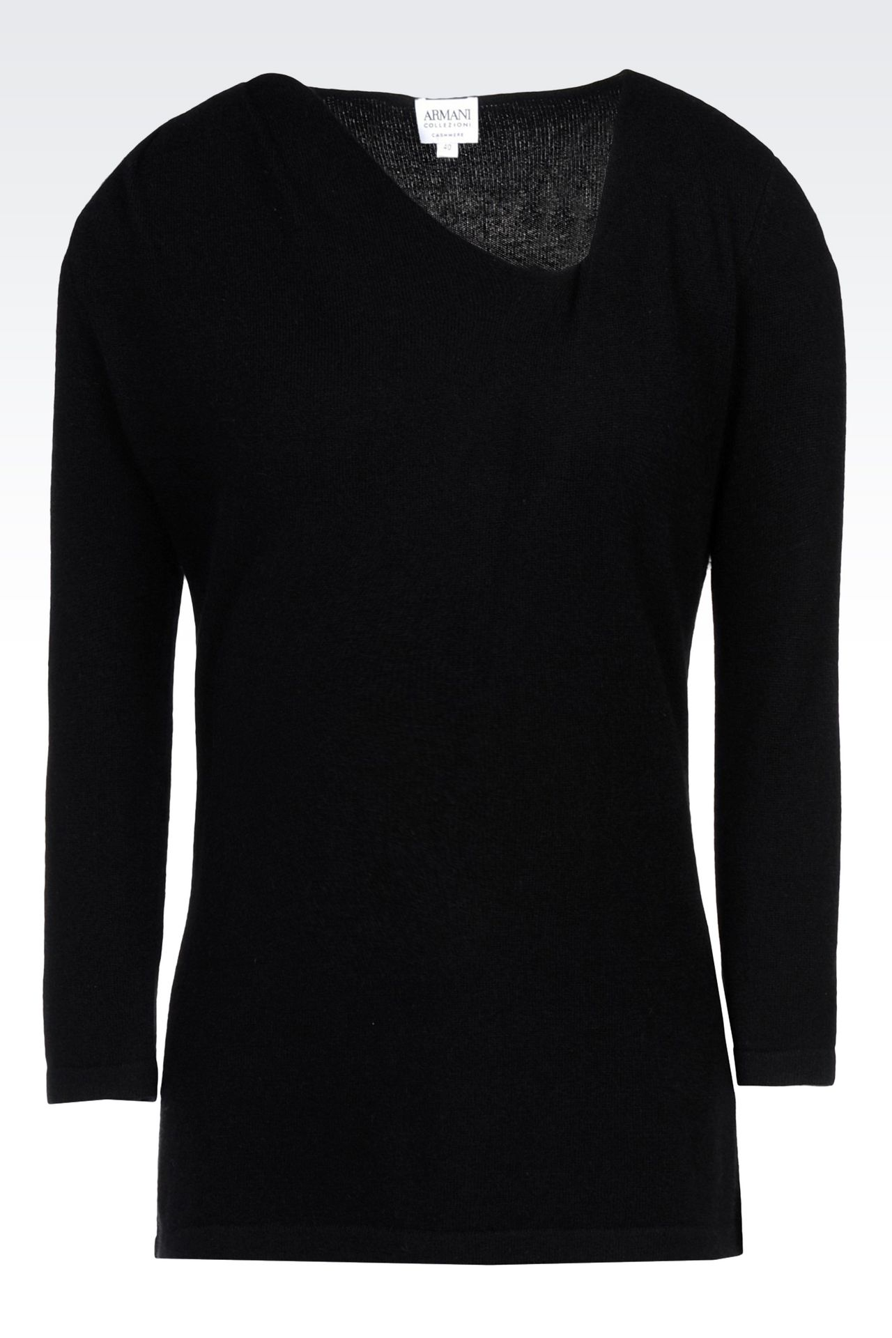 CASHMERE JUMPER: V  neck sweaters Women by Armani - 0