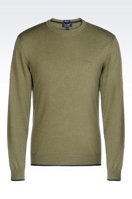 Armani Crewneck sweaters Men sweater in cotton blend