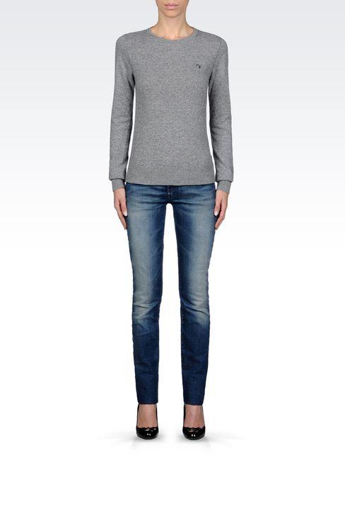 SWEATER IN WOOL BLEND: Crewneck sweaters Women by Armani - 2