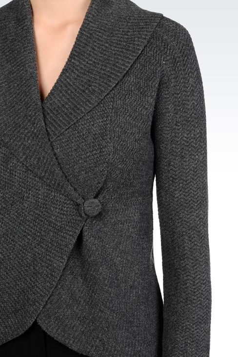 KNIT JACKET: Double-breasted jackets Women by Armani - 5