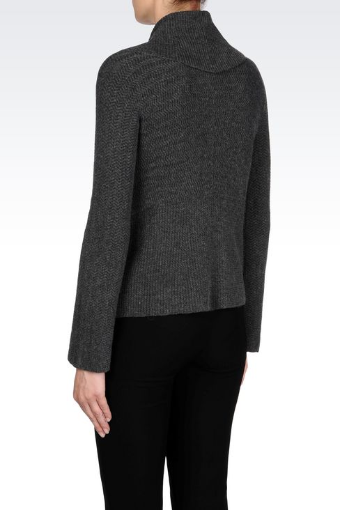 KNIT JACKET: Double-breasted jackets Women by Armani - 4