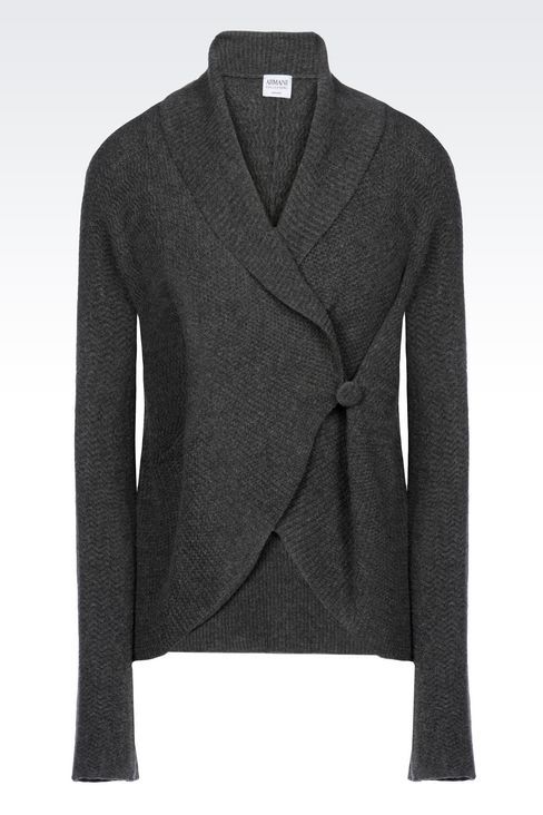 KNIT JACKET: Double-breasted jackets Women by Armani - 1