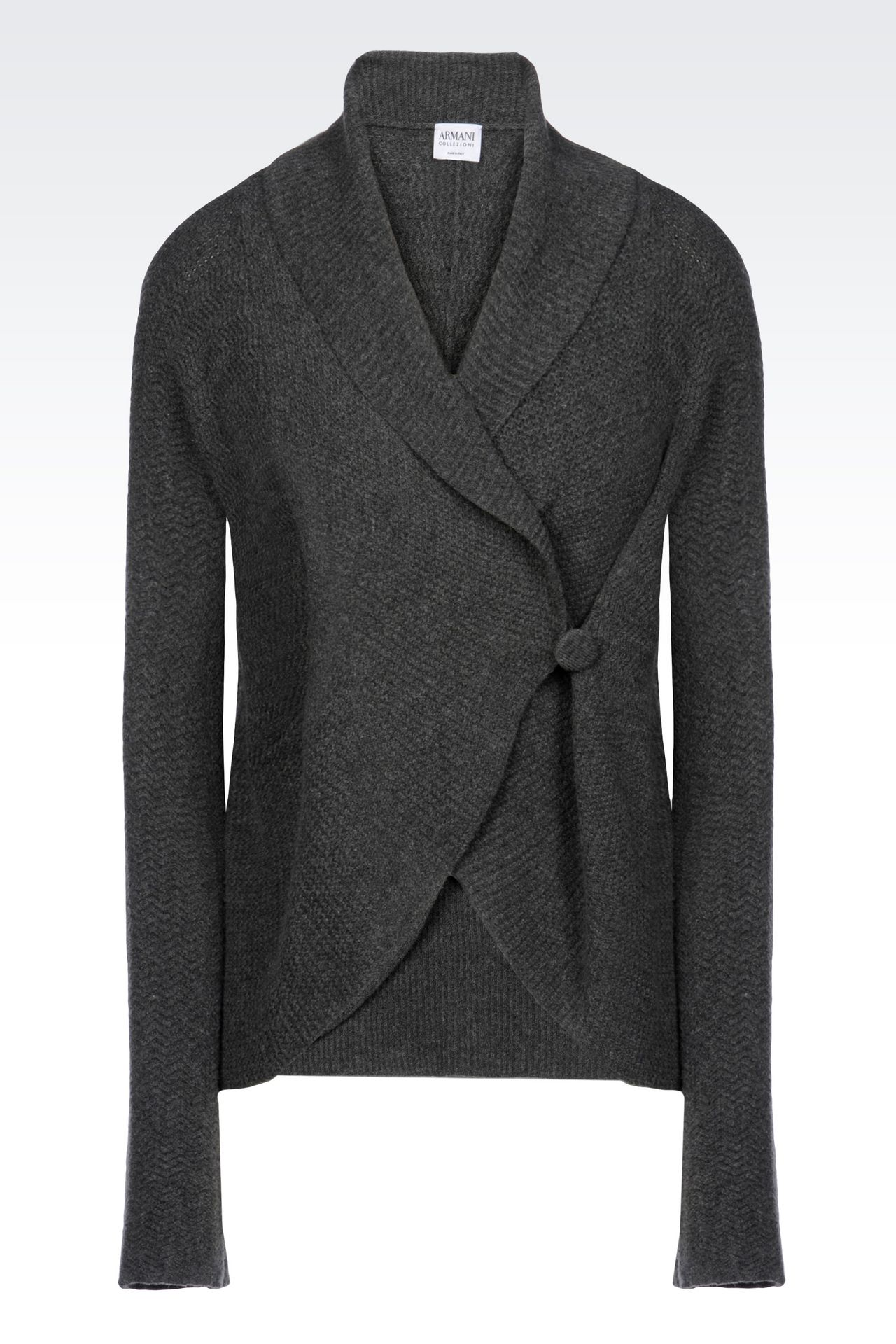 KNIT JACKET: Double-breasted jackets Women by Armani - 0
