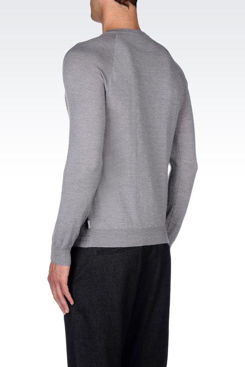 JUMPER IN VIRGIN WOOL: Crewneck sweaters Men by Armani - 4