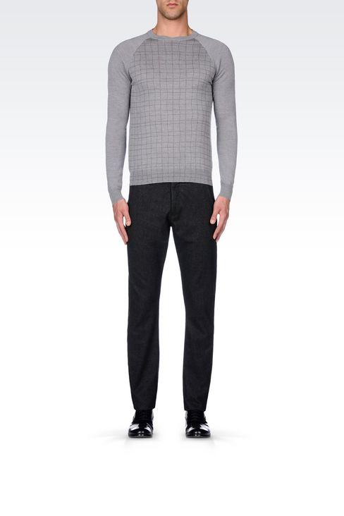 JUMPER IN VIRGIN WOOL: Crewneck sweaters Men by Armani - 2