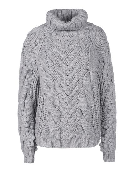 """""""Puffball"""" cable knit sweater"""