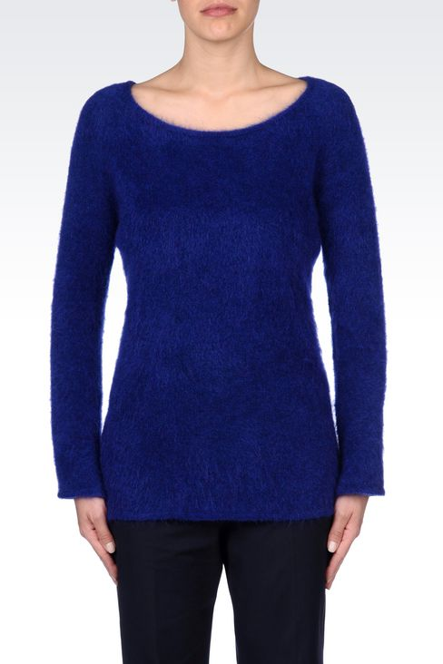 WOOL JUMPER: Crewneck sweaters Women by Armani - 3