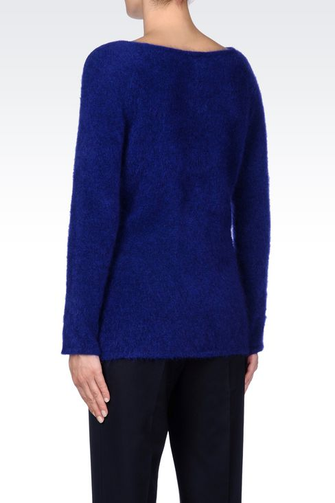 WOOL JUMPER: Crewneck sweaters Women by Armani - 4