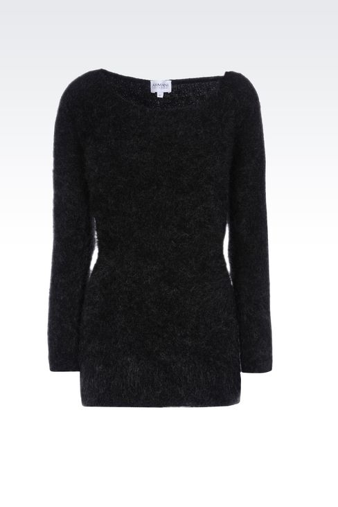 WOOL JUMPER: Crewneck sweaters Women by Armani - 1