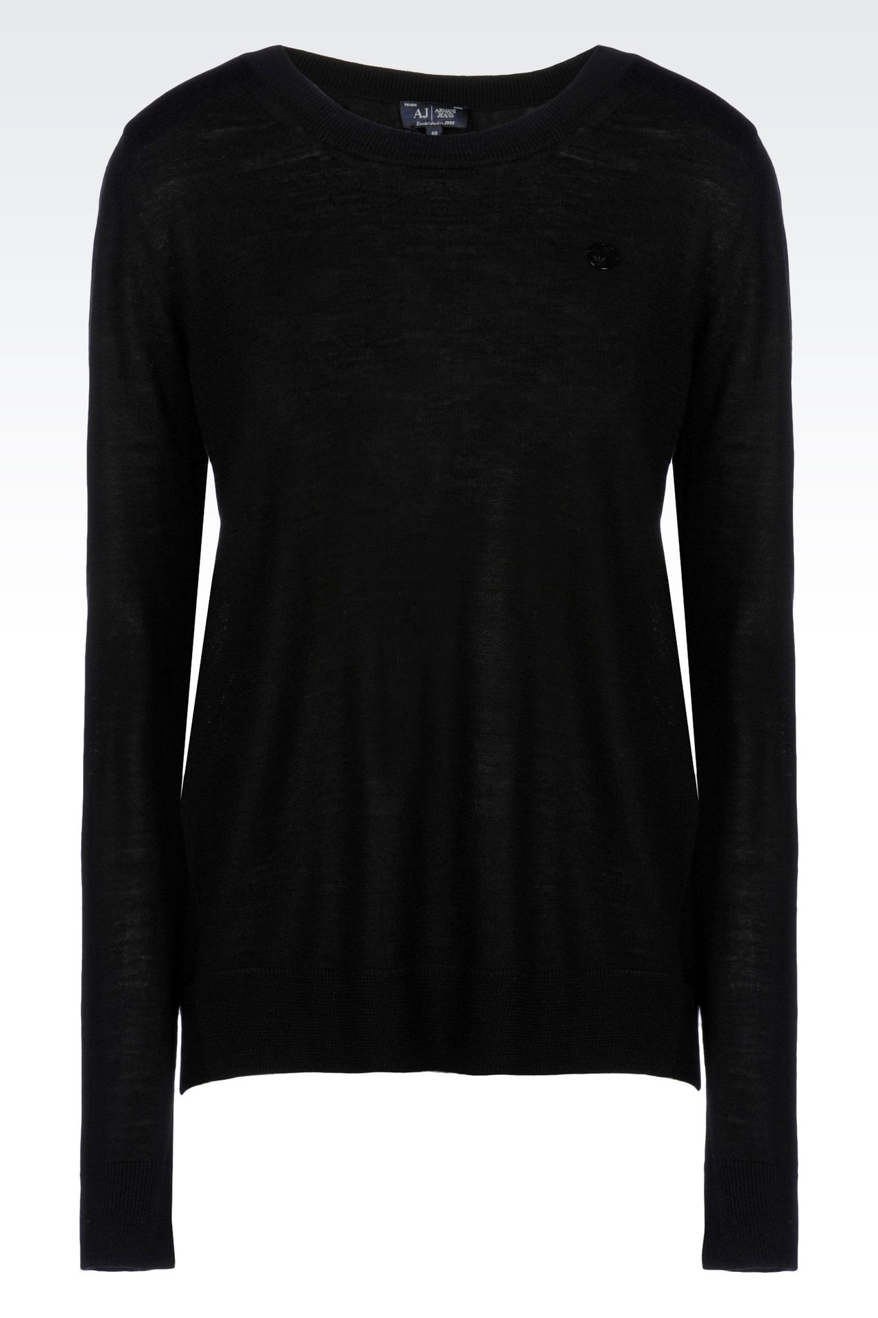 WOOL JUMPER: Crewneck sweaters Women by Armani - 0