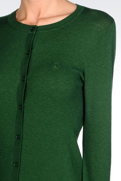 CLASSIC CREW NECK CARDIGAN: Cardigans Women by Armani - 5