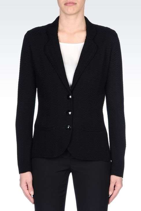 JACKET IN VISCOSE BLEND: Knit jackets Women by Armani - 3