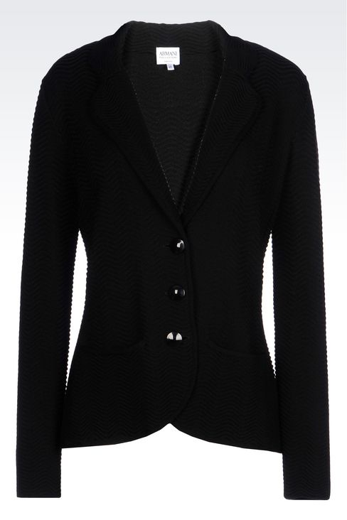 JACKET IN VISCOSE BLEND: Knit jackets Women by Armani - 1