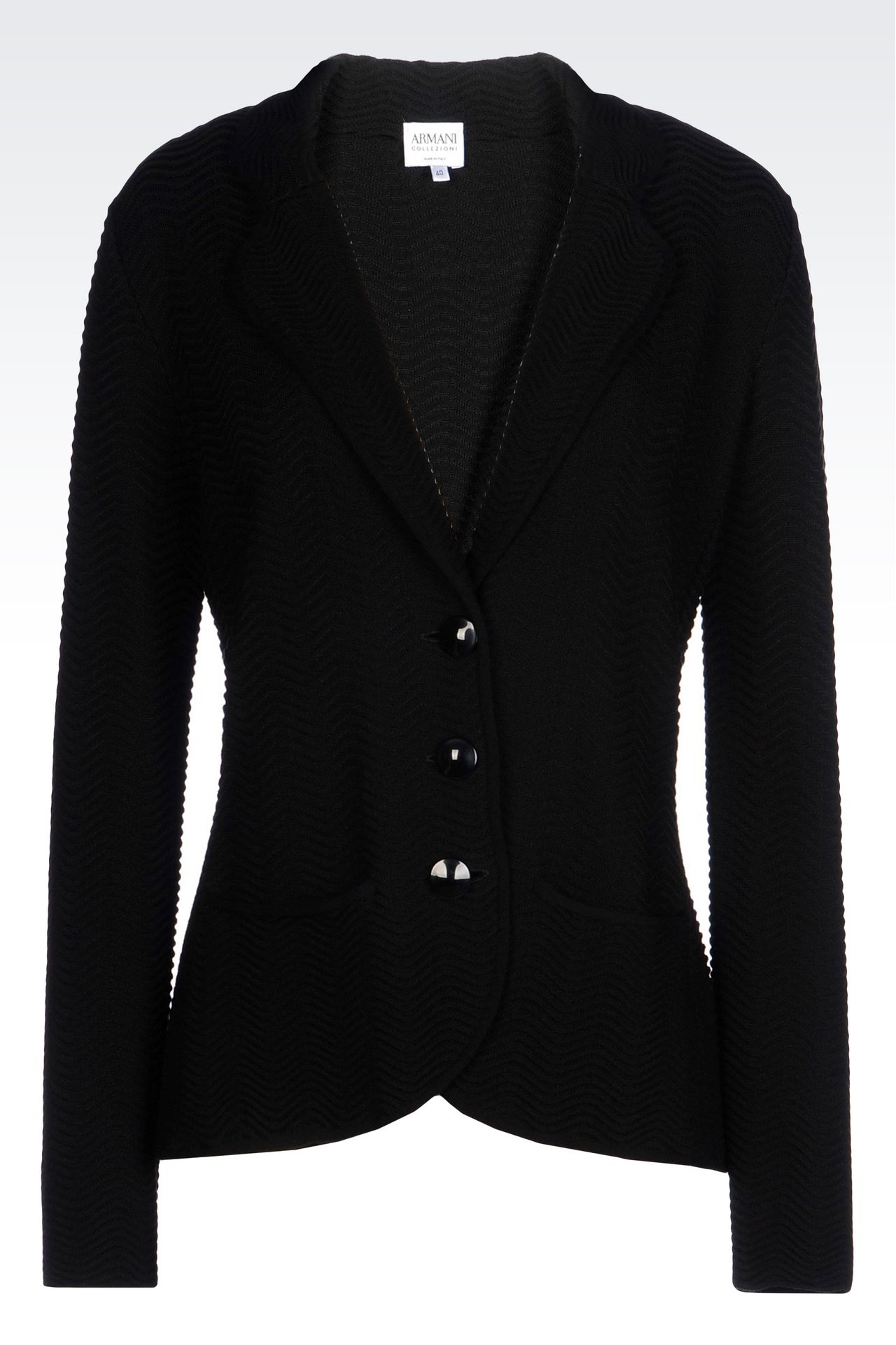 JACKET IN VISCOSE BLEND: Knit jackets Women by Armani - 0