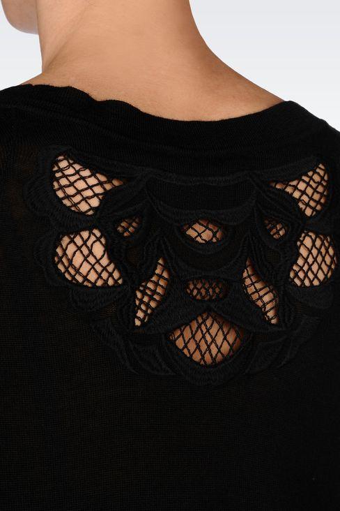 OVERSIZE JUMPER IN WOOL BLEND: Crewneck sweaters Women by Armani - 5