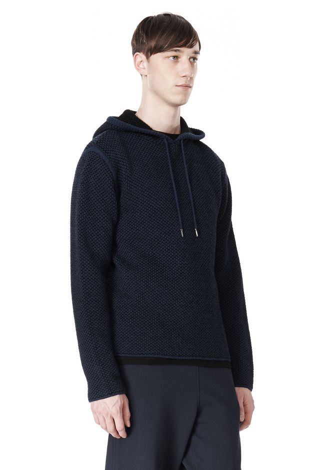 T by ALEXANDER WANG CHENILLE TUCK STITCH PULLOVER HOODIE TOP Adult 12_n_a