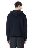 T by ALEXANDER WANG CHENILLE TUCK STITCH PULLOVER HOODIE TOP Adult 8_n_d