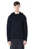 T by ALEXANDER WANG CHENILLE TUCK STITCH PULLOVER HOODIE TOP Adult 8_n_e