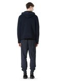 T by ALEXANDER WANG CHENILLE TUCK STITCH PULLOVER HOODIE TOP Adult 8_n_r
