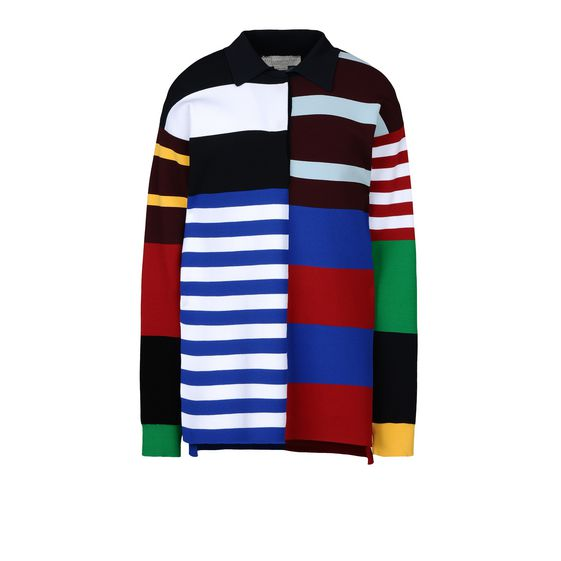 STELLA McCARTNEY, Sweatshirt à manches longues, Sweat-shirt à col polo